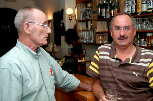 Walter Hagemann und Uli Stielike (Bild: Stefan Meisel)