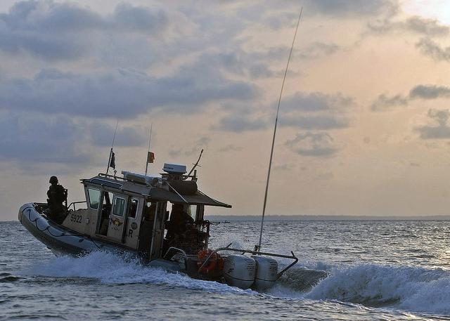 Küstenwache in Kamerun, Boot von den USA. © US Navy